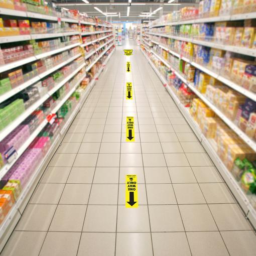Safe Shop Social Distancing Directional Arrow Kit