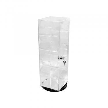 """Rotating Acrylic Case - Rectangular 21 1/2"""" High"""