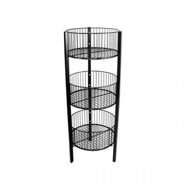 Three Tier Basket Stand | Black