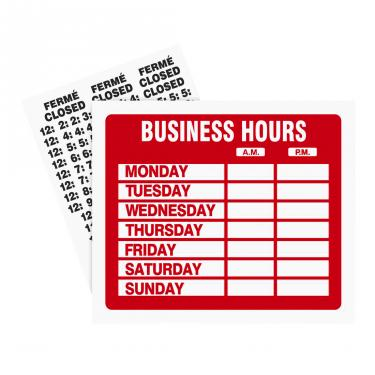 Business Hour Sign Kit