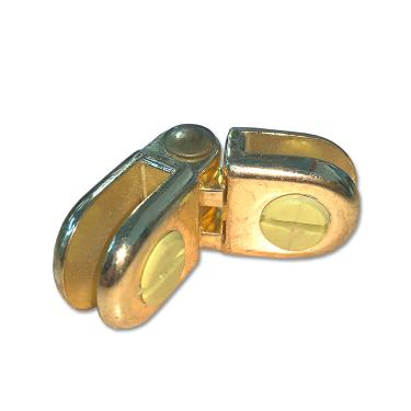 Brass Hinged Glass Cube Panel Connector