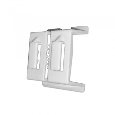 C-Channel 3 Way Mounting Clip | White