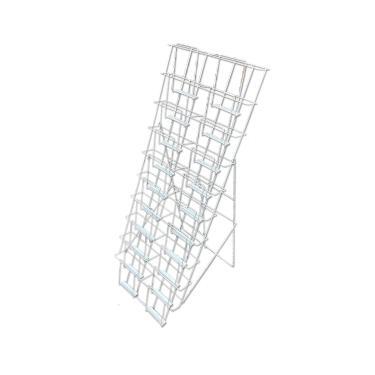 20 Pocket Floorstanding Literature Holder | White