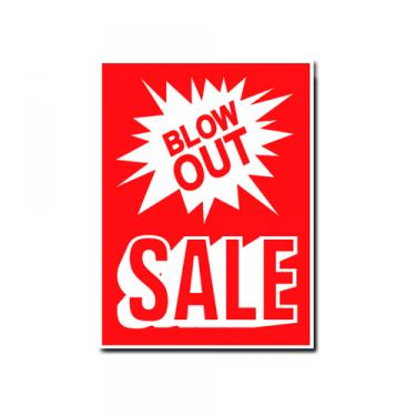 "Sign ""Blowout Sale"" Card Stock"