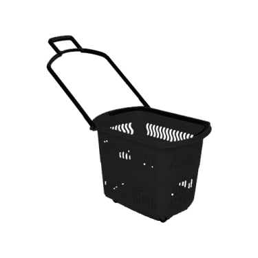 Rolling Shopping Baskets | 30L Regular Black