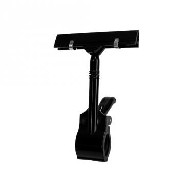 "Twist-Klip Sign Holder Large Clamp | 5½"" Black"