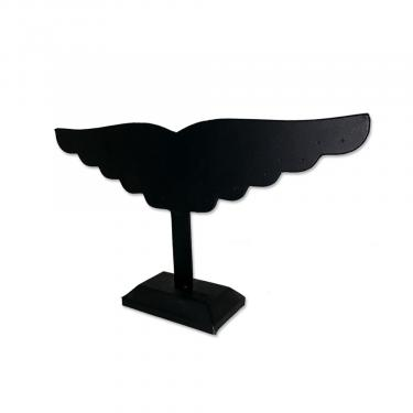 Earring Wing Display 10 Piece | Black Leatherette