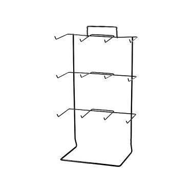 12 Peg Countertop Rack