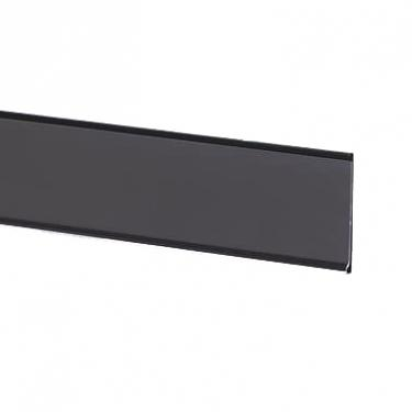 "Adhesive Ticket Molding Black | 2"" High x 48"" Long"