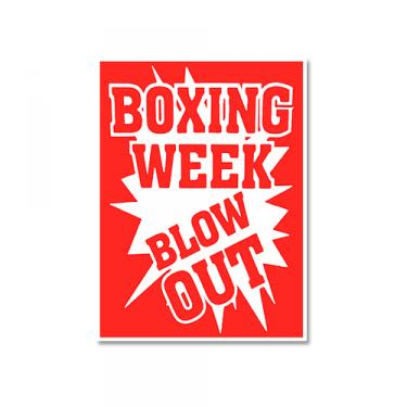 "Sign ""Boxing Week"" Card Stock"