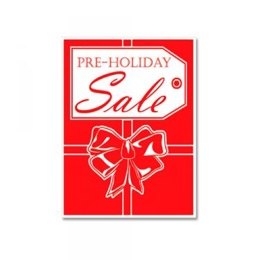 "Sign ""Pre-Holiday Sale"" Card Stock"
