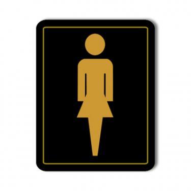 Women's Washroom Sign Card