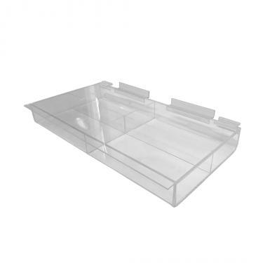 """Slatwall Acrylic Tray 16"""""""