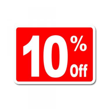 """Sign """"10% Off"""" Card"""