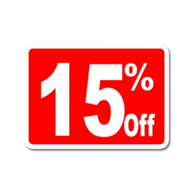 """Sign """"15% Off"""" Card"""