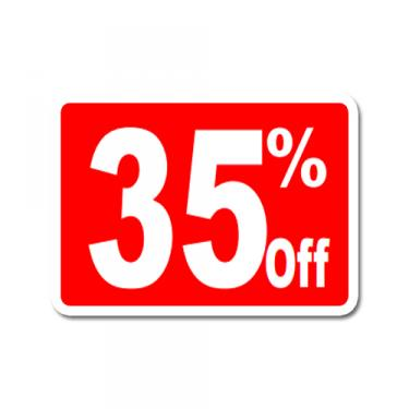 """Sign """"35% Off"""" Card"""