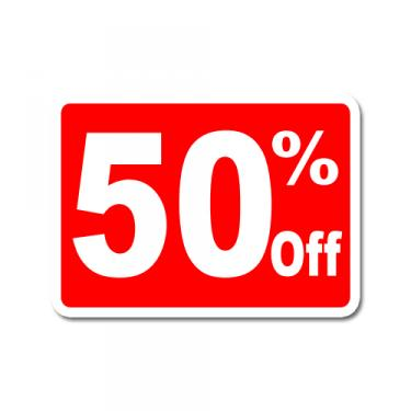 """Sign """"50% Off"""" Card"""