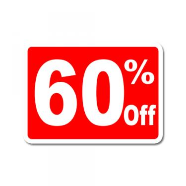 """Sign """"60% Off"""" Card"""
