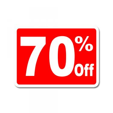 """Sign """"70% Off"""" Card"""