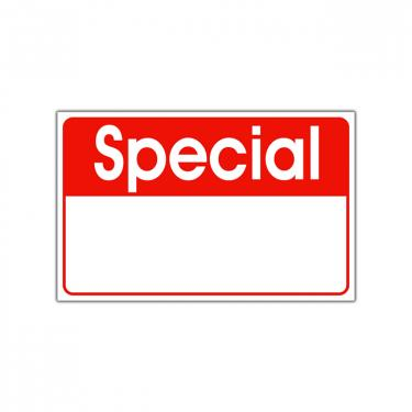 "Re-Usable ""Special"" Sign"