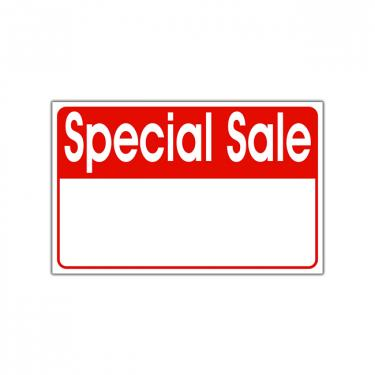 "Re-Usable ""Special Sale"" Card"