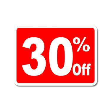"""Sign """"30% Off"""" Card"""