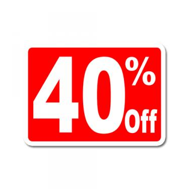 """Sign """"40% Off"""" Card"""