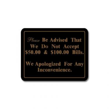 """Sign """"Please Be Advised"""" Card"""