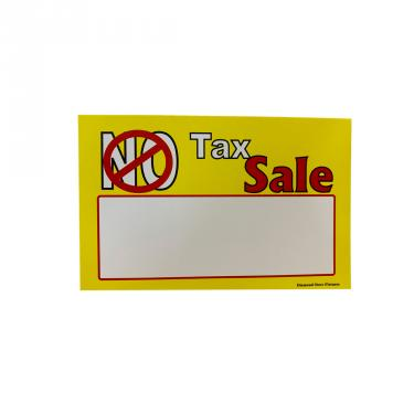 No Tax Sign Pack of 100 Piece