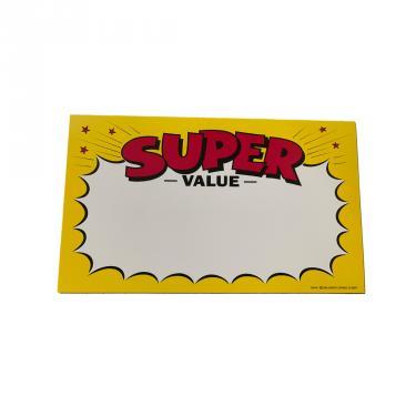Super Value Sign Pack of 100 Piece