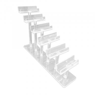 Acrylic Step Style Frame Display   6 Frame