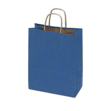 100% Recycled Kraft Bags - Blue
