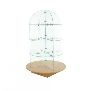 "30"" Rotating Glass Tower Display"