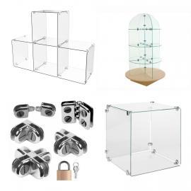 Glass Display Cubes
