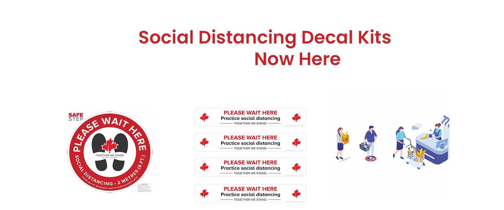 Social Distancing Floor Decal Kit